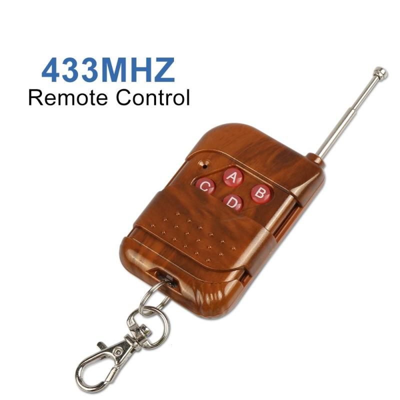 433mhz RF Relay Receiver Module Wireless 4 CH Output With Learning Button and 433 Mhz RF Remote Controls Transmitter Diy-in Remote Controls from Consumer Electronics
