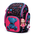 Высокое качество 3D дети 6-12 год Канцелярские малышей мешка Большой емкости девушка мешок школы бесплатно кукла студенты ребенок путешествия рюкзак