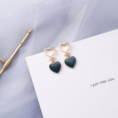 AOMU coréen bleu géométrique acrylique irrégulière cercle creux carré balancent des boucles d'oreilles pour les femmes en métal bosse fête plage bijoux 31