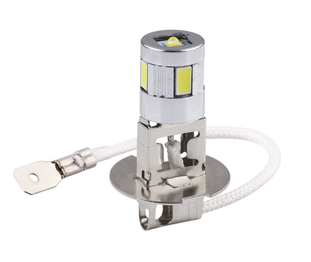 Светодиодные лампы H3, Автомобильные противотуманные фары высокой мощности, лампы 5630 SMD, Автомобильные светодиодные лампы для вождения, исто...