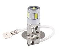 Lâmpadas de led h3 para farol automotivo  lâmpada com alta potência  5630 smd  condução automática  12 unidades farol de cabeça d030 v 6000k