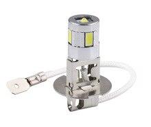 Phare anti brouillard de voiture H3 ampoule LED, haute puissance, 5630 SMD, conduite automatique, ampoule Led, Source de lumière de stationnement 12V 6000K, D030