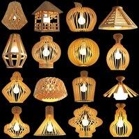 Современные деревянные обеденная светильники, Подвесная лампа книги по искусству открытый подвесные светильники Lamparas Красочные алюминиев