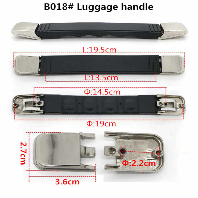 Замена чемоданные ручки, пластиковая ручка, телескопические багажные аксессуары тележка ручка багажного отделения для чемоданов
