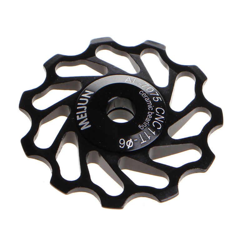 11Tooth MTB Cuscinetto di Ceramica Jockey Puleggia Ruota Della Bicicletta Della Strada Della Bici Deragliatore Calda
