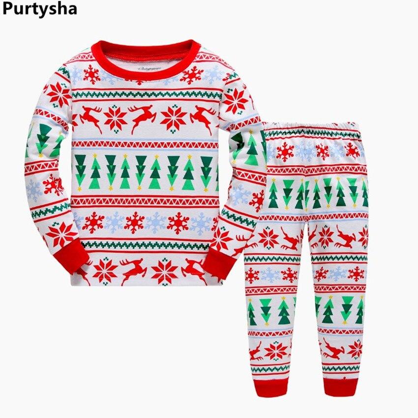 wholesale kids pajamas sets girls boys christmas pajamas cartoon animal pyjamas sleepwear baby nightwear 100 cotton homewear - Wholesale Christmas Pajamas