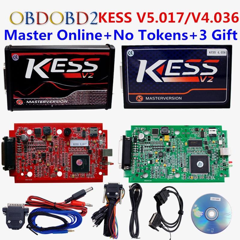Online Rot EU KESS V5.017 Ktag V7.020 V2.23 Kein Token grenze Master Kess 5,017 7,020 V2 Obd2-manager Tuning Kit ForCar/Lkw/Motor