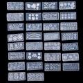 30 unids Mix Diseño DIY 3D Nail Art Plantillas De Silicona Transparente de Uñas de Acrílico Arte Cabujón Estampación Molde Conjunto