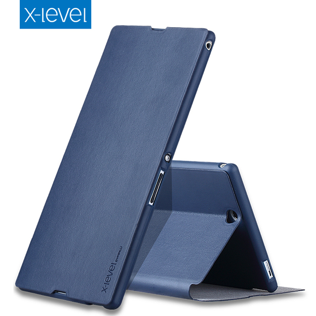 new concept 26cf4 315b7 US $10.5 |New Brand X Level X Level High quality Flip Stand PU Luxury  Leather case for SONY Z Ultra XL39h C6833 Mobile Phone Bag PP1-in Flip  Cases ...