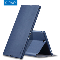 Luxury Book Original X Level High Quality Classic Flip Stand Cover PU Leather Case For SONY