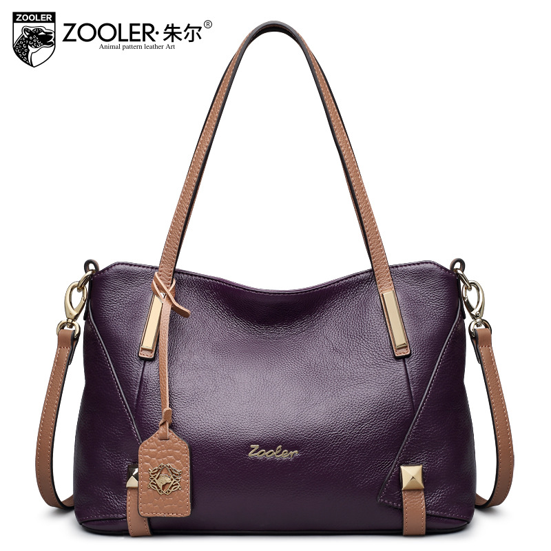 ZOOLER Fashion Genuine Leather Bags Handbags Women Famous Brands Lady 2017 New Winter Shoulder Bag Ladies Casual Tote Sac A Main zooler fashion genuine leather crossbody bags handbags women famous brands female messenger bags lady small tote bag sac a main