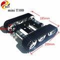 DOIT Metal Robot tanque chasis mini T100 oruga vehículo con plástico oruga modelo diy plataforma de enseñanza Coche