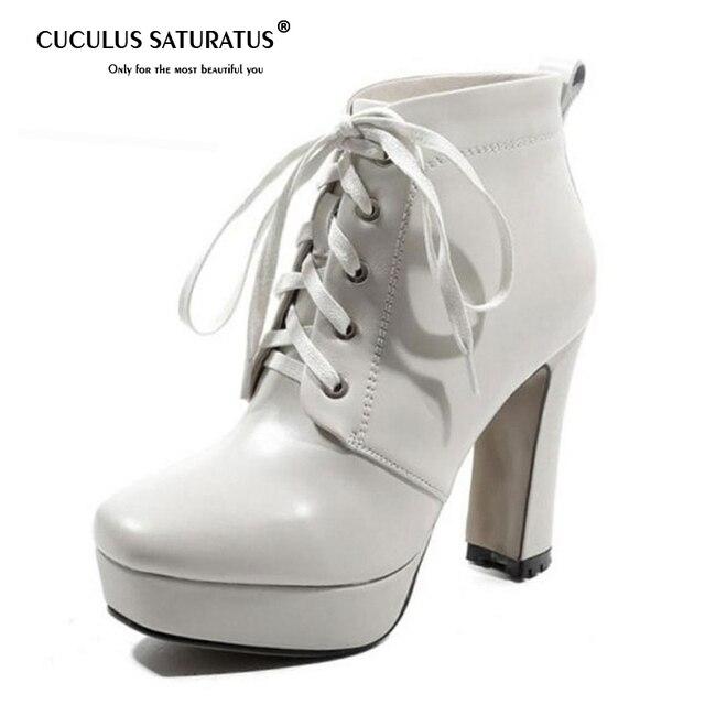 Cuculus Kadın Ayakkabı yarım çizmeler Gerçek Deri Hakiki Deri Çizmeler Kış kadın ayakkabısı Moda kısa çizmeler Bayan Ayakkabıları 1168