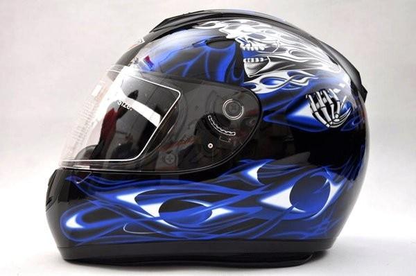 ФОТО Free shipping Paulo color Black/blue flame Classic Full Face Helmet Motorcycle Helmet lmet Full face helmet S-600-04