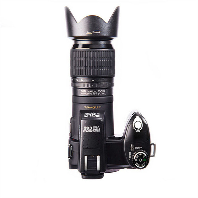 POLO D7200 Appareil Photo numérique 33MP Auto Focus professionnel Appareil Photo reflex numérique téléobjectif objectif grand Angle Appareil Photo sac