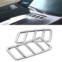 JEAZEA Car Styling 2 pcs Car Front Hood Air Vent Outlet Cover Trim Frame fit for Mercedes Benz ML GL GLE GLS Class