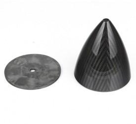 """rc model 4 """" ( 101.6 mm ) fibra spinner carbonio con carbon piatto posteriore della fibra 3 k lavorazione superficiale"""