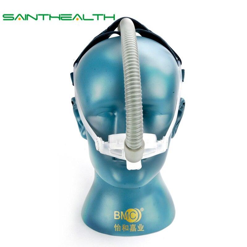WNP oreiller Nasal CPAP masque Silicone Gel SML taille coussin tout en masque de sommeil médical pour ronflement et traitement de l'apnée avec ceinture