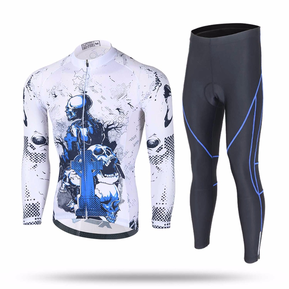 Spring&Autumn Men Cycling Sets Riding Suit Cycling Jersey Pants Bicycle Clothing Mountain Car Equipment