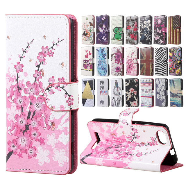Wiko Lenny3 Case Pink Plum Magnetic Leather Wallet Flip Handbag Book Cover Case sFor  Wiko Lenny 3  Mobile Phone Cases Coque