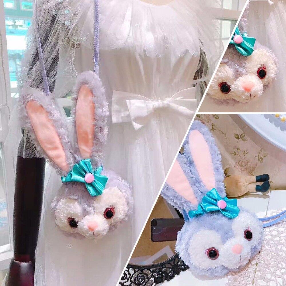 Stella Luo Ballet rabbit Coin Purse Animal Plush Backpack Funny Long Belt Duffy Rabbit Crossbody Hangbag