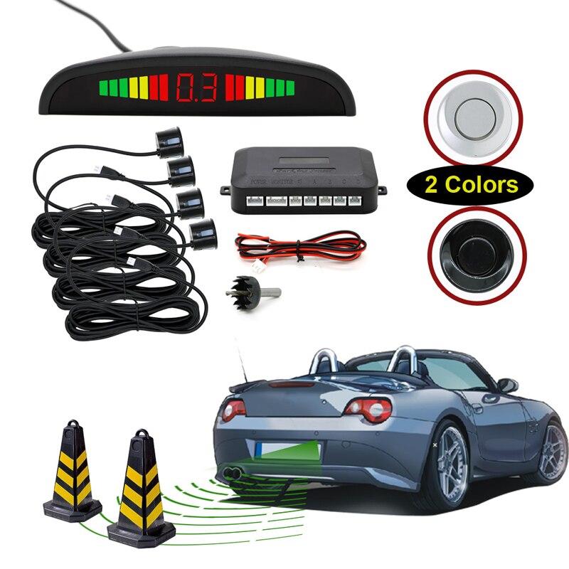 Bosion Авто парктроник LED Парковка Сенсор с 4 Датчики обратный резервный радар парковки Мониторы детектор Системы Подсветка