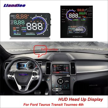цена на Car HUD Head Up Display OBD For Ford Taurus Transit Tourneo MK7 MK8 2013-2018 2014 2015 Safe Driving Screen Projector Windshield
