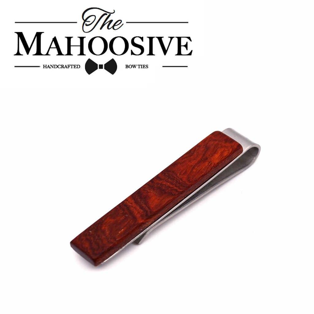Mahoosive moda klasyczne mężczyźni drewniane spinka do krawata klipy na co dzień w stylu drewna Tie klip wykwintne krawat ślubny klipy mężczyźni Spinka do krawata