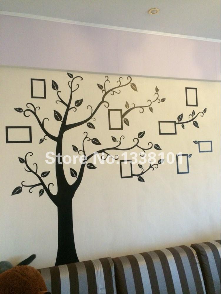 HTB1DWjSKXXXXXcbXFXXq6xXFXXXE - Free Shipping:Large 200*250Cm/79*99in Black 3D DIY Photo Tree PVC Wall Decals/Adhesive Family Wall Stickers Mural Art Home Decor