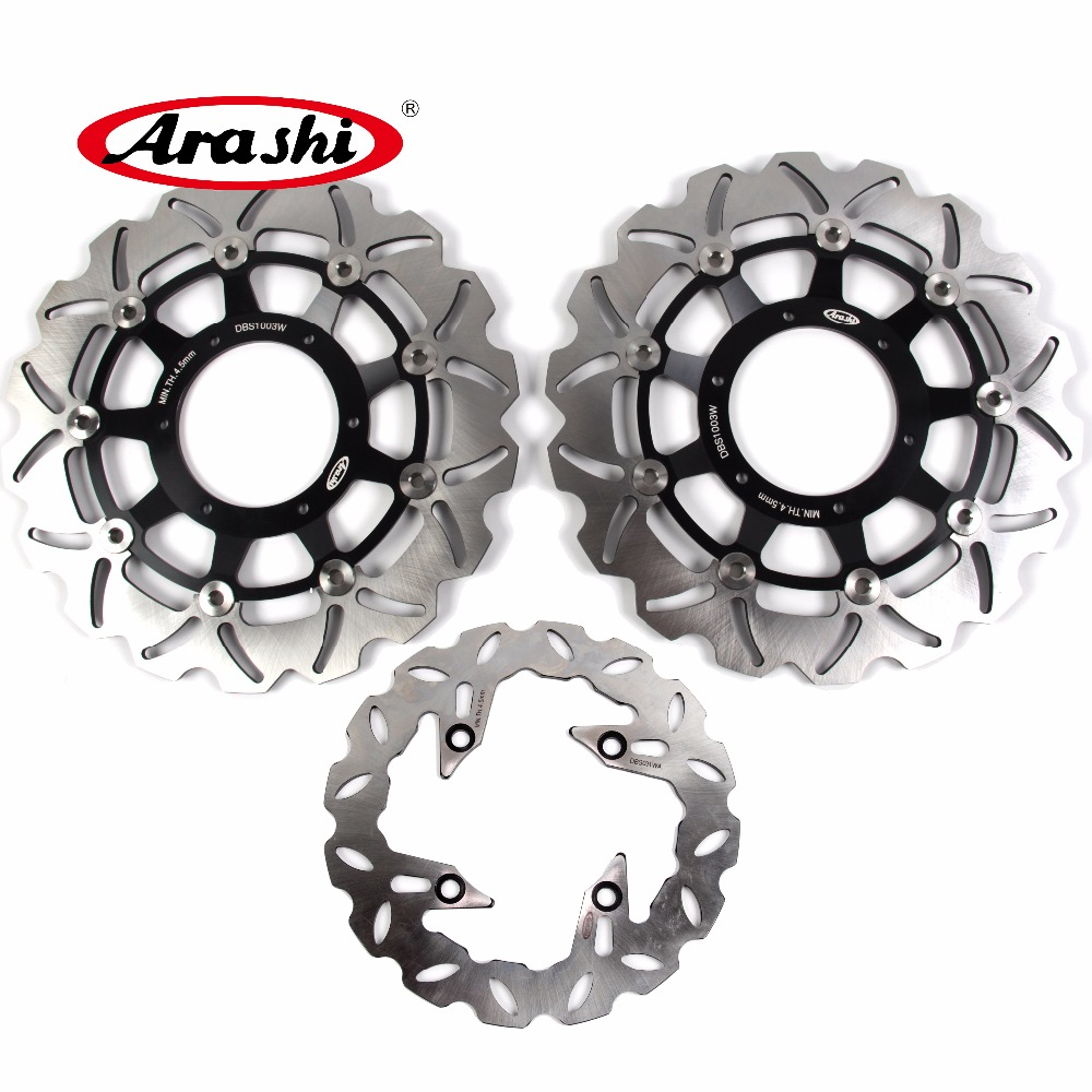 Arashi 1 Set For HONDA CB F HORNET 900 2002 2003 2004 2005 2006 CBF HORNET 900 Floating Front Brake disk & Rear Brake Disc Rotor arashi cnc rear brake disc brake rotors for honda cb250 cb400 cb500 cb500s 1991 2000 2001 2002 2003 2004 2005 2006