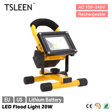 2017 led outdoor light TSLEEN NEW HOT SALE 10w portable led flood spot light night work fishing camping lamp led schijnwerper