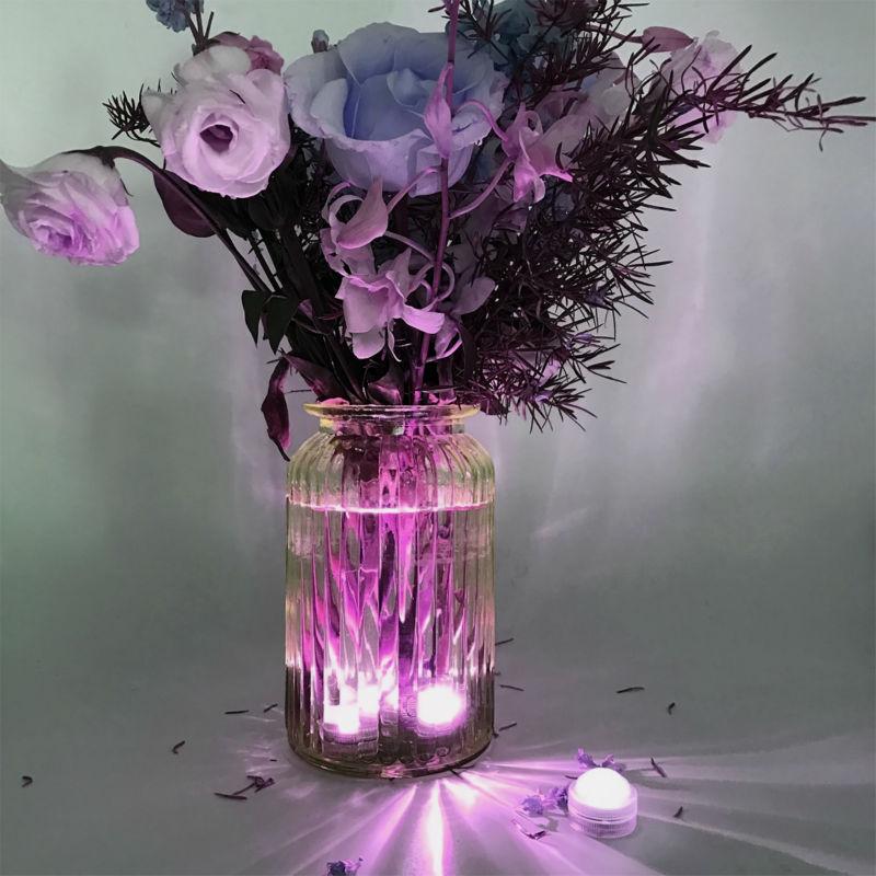 Free Shipping Factory Vendor 120pcs/lot One Super Bright Led Lamps Led Waterproof Floralyte Light Centerpiece Decor Lights & Lighting