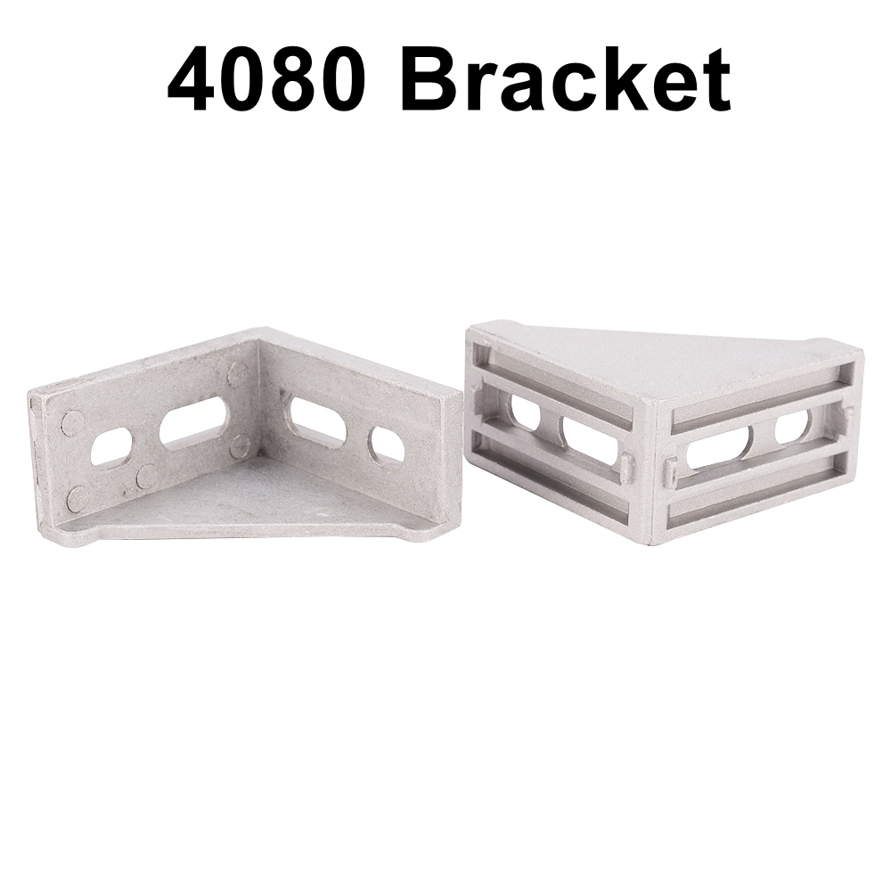 4pcs Aluminum Angle Bracket for Aluminum Profile Extrusion 4040 or 4080 Series 10 50 meters pack 1m per piece led aluminum profile slim 1m with milky diffuse or clear cover for led strips