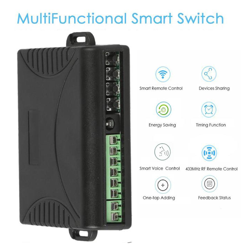Multifuntional Remote Control Smart App WiFI Switch Home Automation Module on/off Wireless Timer Diy Switches Din Rail Mounting