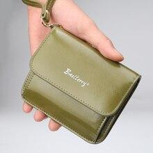 Slim Mini Women Short Wallet Sweet Letter PU Leather Female