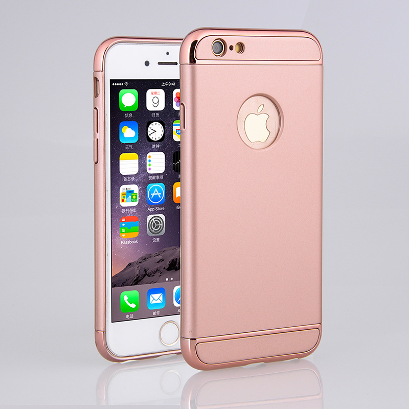 Airsspu Super Shockproof Case for iPhone 6 s 6S 7 8 Plus 6Plus 6SPlus 7Plus 8Plus Plating three sets Cell Phone Back Cover
