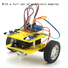 Model 7575 N20 Smart Car (Included System), Geared Motor DIY Robot Makes Toy Car Chassis t60 metal crawler tanks chassis intelligent robot model with 37 motor
