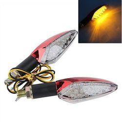 2 x uniwersalny motocykl 12 V żarówki LED włącz światła sygnalizacyjne wskaźniki czerwony ciała nowy