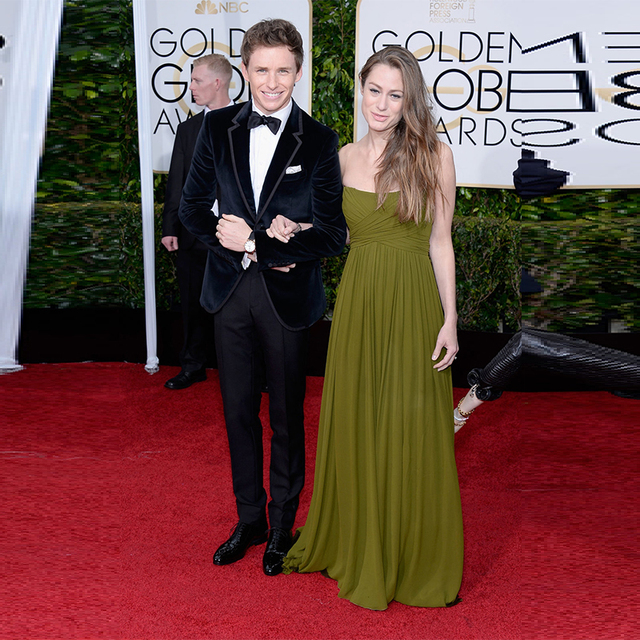 Golden Globe Awards Celebrity Dresses Red Carpet Olive Green Evening