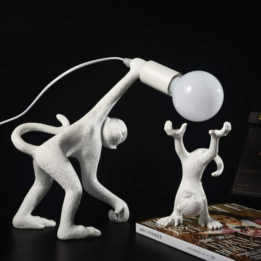 Aap Tafel Licht, Art Hars Bureau Accent Lamp, Dier Tafel Lampen Voor Bed, Kinderen Woonkamer, Gang, Restaurant