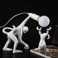 Monkey Table Light, Art Resin Desk Accent Lamp, Animal Table Lamps for Bedside, Children's Living Room, Corridor, Restaurant
