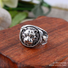 925 sterling silver jewelry Thai silver restoring ancient ways Thailand import of lions The king of beasts ring