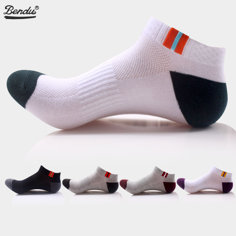2019 Bendu Brand New Mens Cotton Socks Skateboard No Show Ankle Shallow Invisible Sport Fashion Casual Breathable 1 Pair