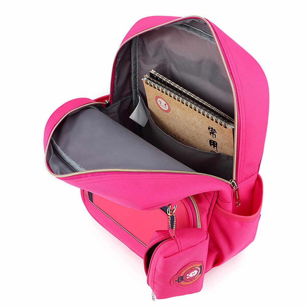 2 piezas lindo arco princesa Mochila mochilas escolares para niñas niños bolso bolsas para la escuela de Kindergarten Mochila Escolar mochilas
