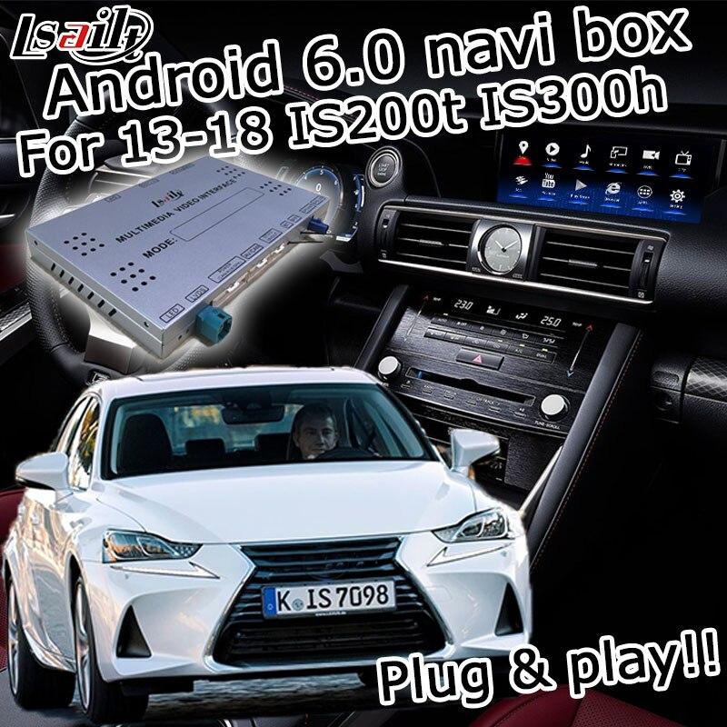 Android GPS box navegação para Lexus Is 2014-2017 etc interface de vídeo com o botão de controle do mouse Carplay IS300h IS250 por Lsailt