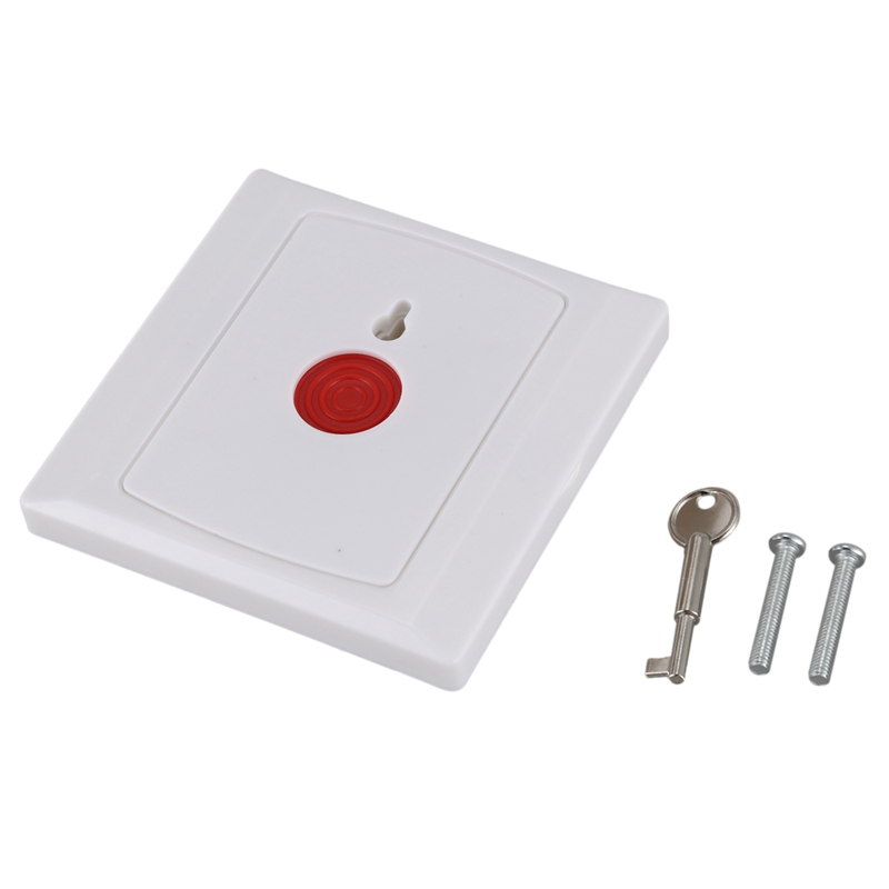 Square Family Office Emergency Panic Button White|Emergency Alarm Button| |  - title=