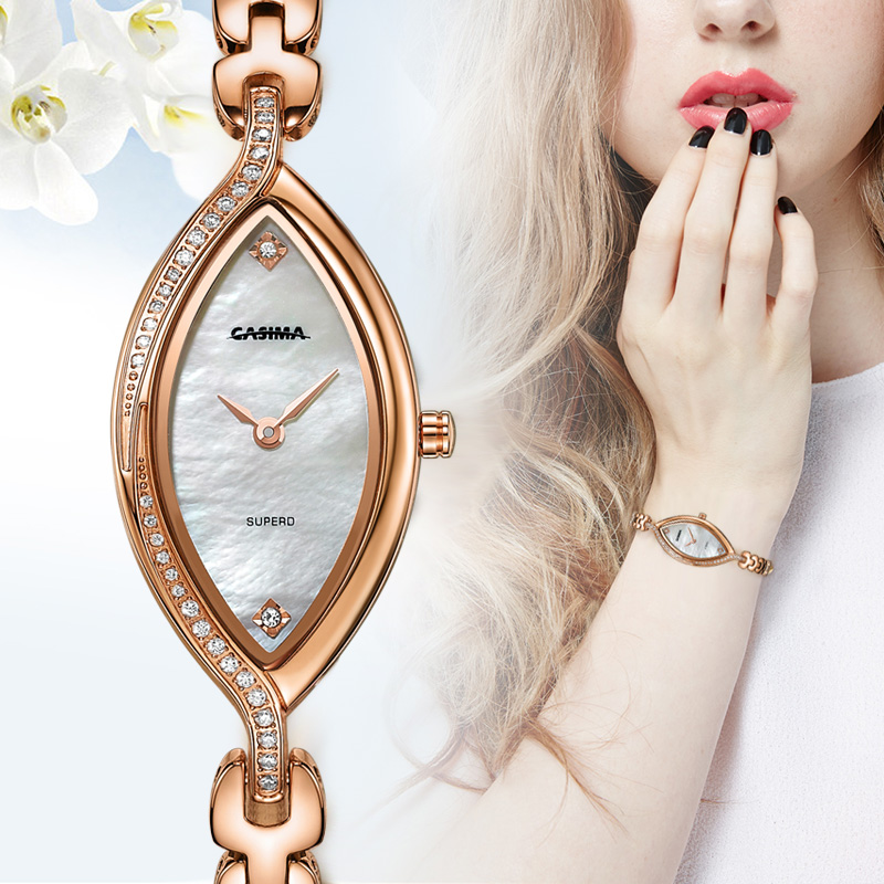 Luxury Brand Rose Gold Women Bracelet Watches Quartz Stainless Steel Waterproof Watch Casual Dress Watch For Women Montre Femme kimio brand rose gold luxury slim bracelet ladies casual business waterproof clock women dress stainless steel mesh quartz watch
