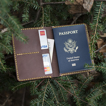 Real Genuine Practical Leather Men Car Document Passport Card Holder Travel Wallets Vintage Men's vehicle file Purse 2017 New