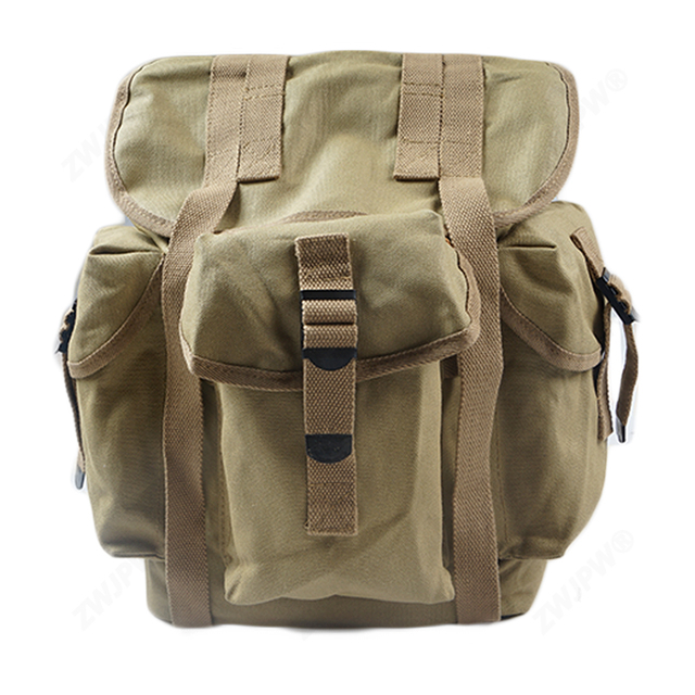 WW2 WWII US Army Musette M14 Military Haversack Sailcloth Backpack canvas Bag US/107101