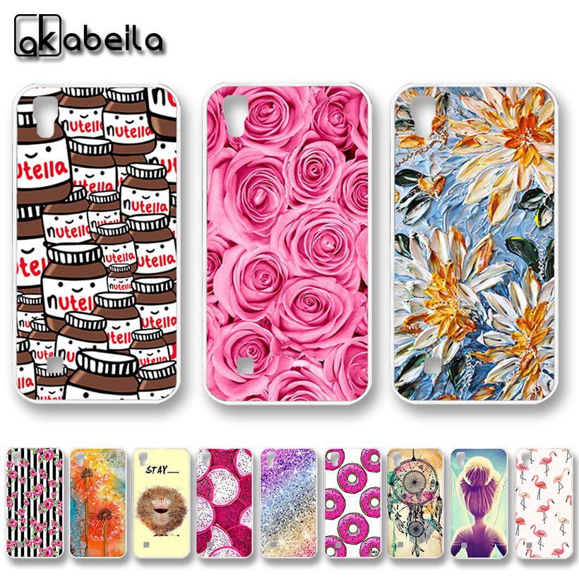 AKABEILA Soft TPU Phone Cases Covers For <font><b>LG</b></font> <font><b>X</b></font> <font><b>Power</b></font> Shell K210 K220 <font><b>K220DS</b></font> XPower Covers Hood Housing Rose Flower Bags image